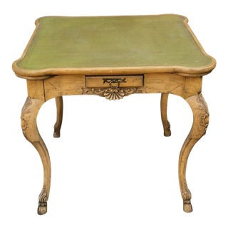 George III Style Baker Furniture Co. Leather Top Game Table For Sale