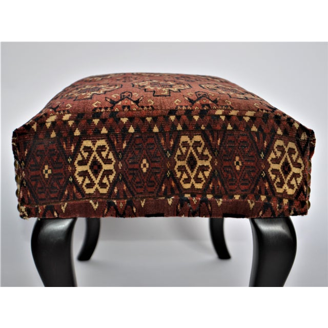 Textile Antique 19th Century Rug Covered Bench For Sale - Image 7 of 10
