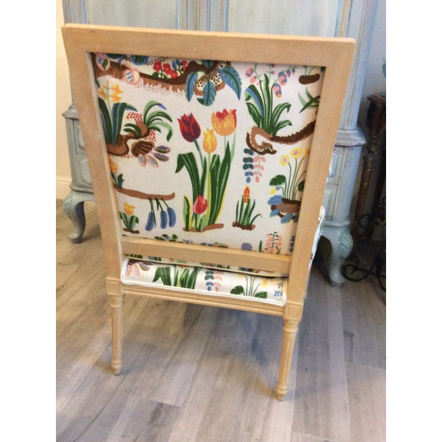 1980s 1980s Vintage Swedish/French Bergere Style Chair For Sale - Image 5 of 12