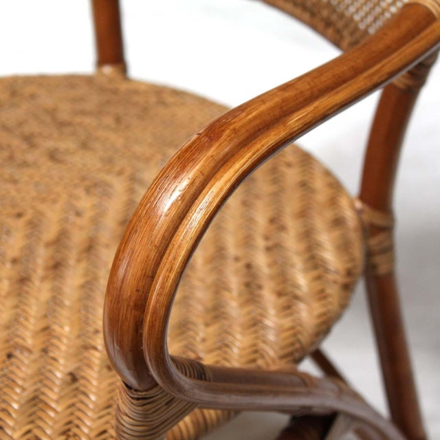 Rattan Bistro Dining Chairs - Set of 4 - Image 2 of 7