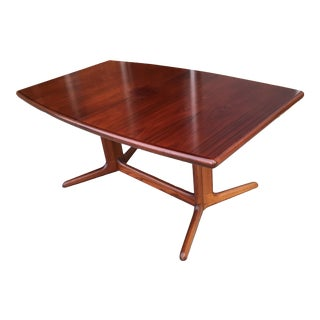 Skovby Mobelfabrik Rosewood Pedestal Dining Table For Sale