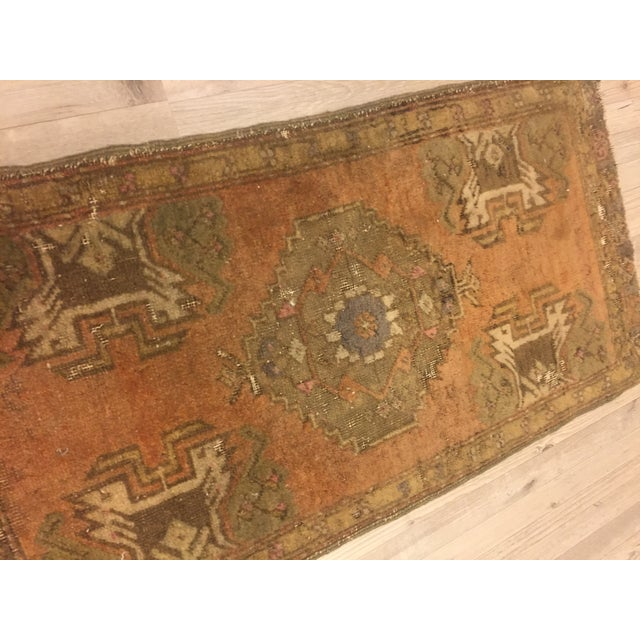 Vintage Turkish Anatolian Rug - 1′6″ × 2′11″ - Image 4 of 6