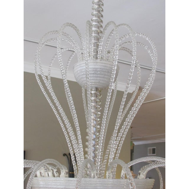 A Shapely and Good Quality Murano 1950's 3-Light Waterfall Chandelier For Sale - Image 4 of 6