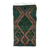 Image of Beni Ourain Green Moroccan Rug with Tribal Design For Sale