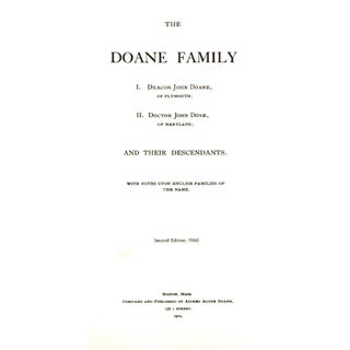 """1960 """"The Doane Family and Their Descendants"""" Collectible Book Preview"""