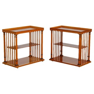 Swedish Biedermeier Style Tiered Nightstands - a Pair