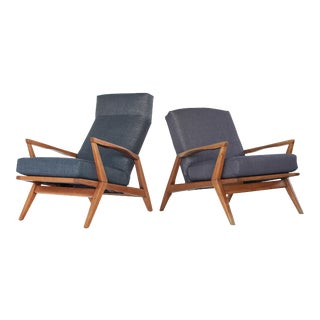 Mid Century Modern Lounge Chairs - A Pair For Sale