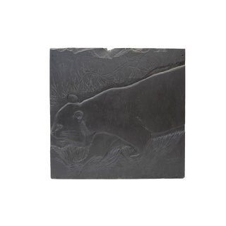 Large Bas Refief in Slate For Sale