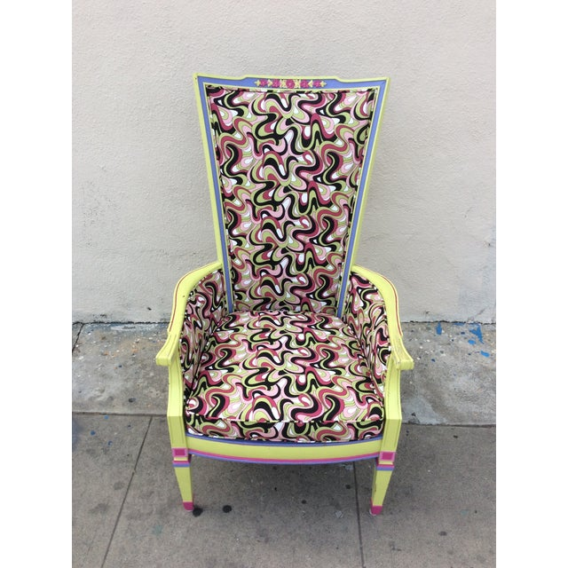 Multicolor High Back Chair - Image 2 of 7