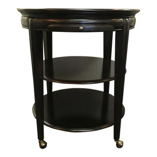 Hooker Round Serving Cart or Side Table