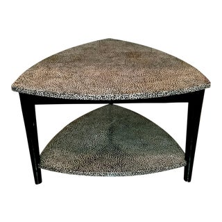 Jonathan Charles Curated Collection Black on White Inverted Brown Eggshell Coffee Table For Sale
