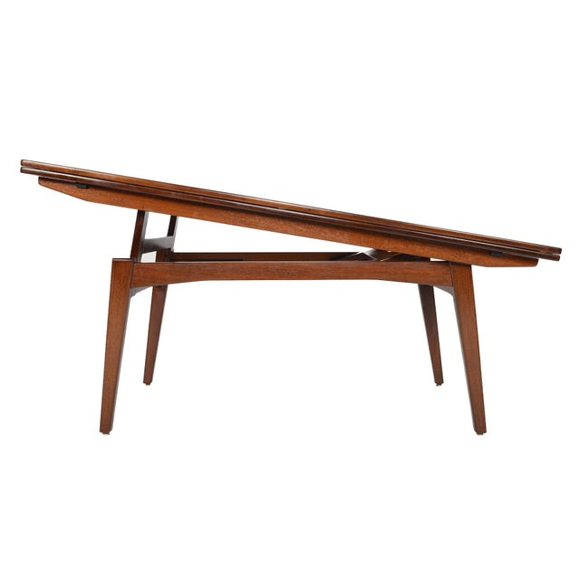 Danish Modern Rosewood Elevation Coffee Table - Image 2 of 8