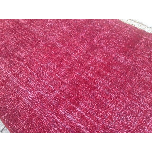 Apadana Purple Overdyed Rug - 7′1″ × 10′4″ For Sale - Image 6 of 6