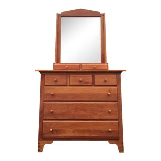 Solid Cherry Dresser & Mirror