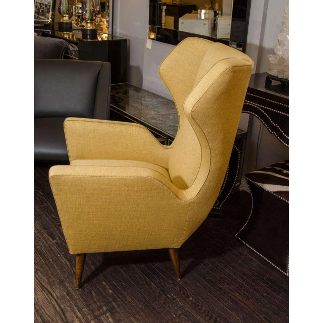 Custom Modernist Armchair and Ottoman For Sale In New York - Image 6 of 10