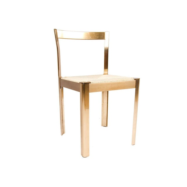 Italian Corded Brass Chairs- A Pair - Image 5 of 7
