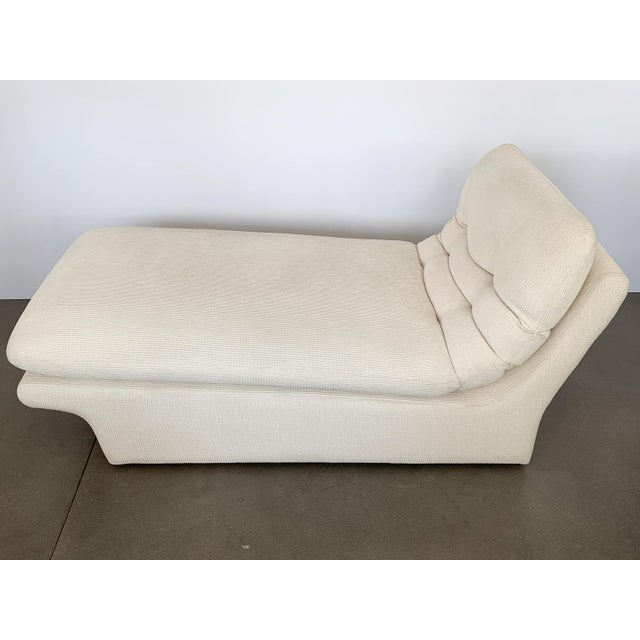Contemporary Modernist Fully Upholstered Chaise Lounge by Preview For Sale - Image 3 of 13