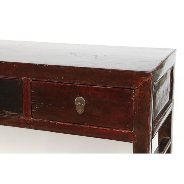 Mid 18th Century 18th Century Five-Drawer Chinese Scholar's Table For Sale - Image 5 of 10