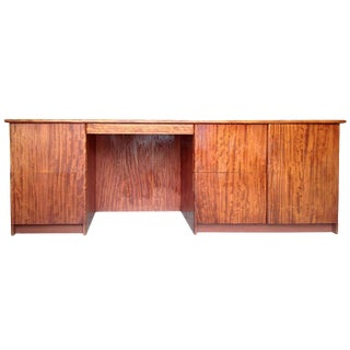 Large And Narrow Console Desk In Gorgeous Bubinga Wood