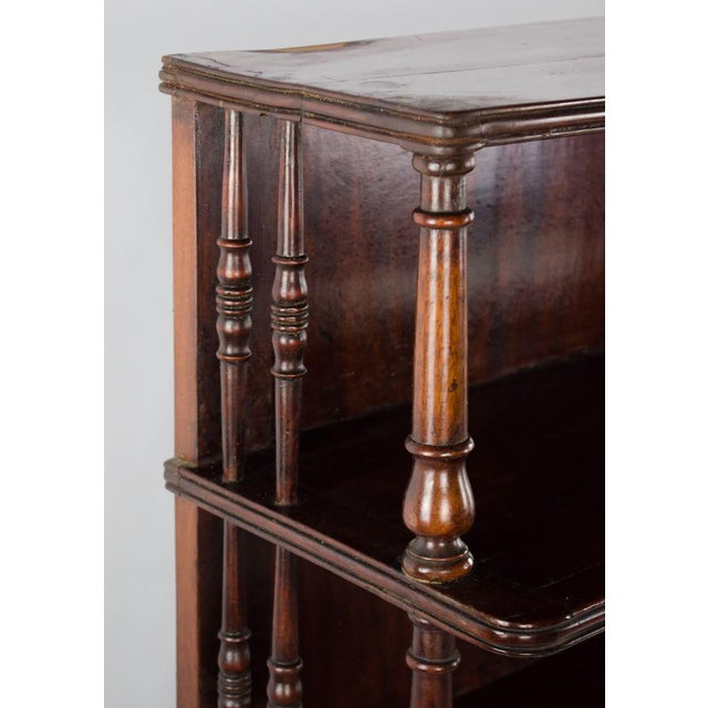 Late 19th Century 19th Century English Traditional Mahogany 3 Shelf Etagere For Sale - Image 5 of 13
