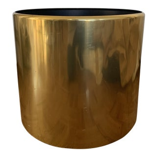 Modern Large Brass Planter For Sale