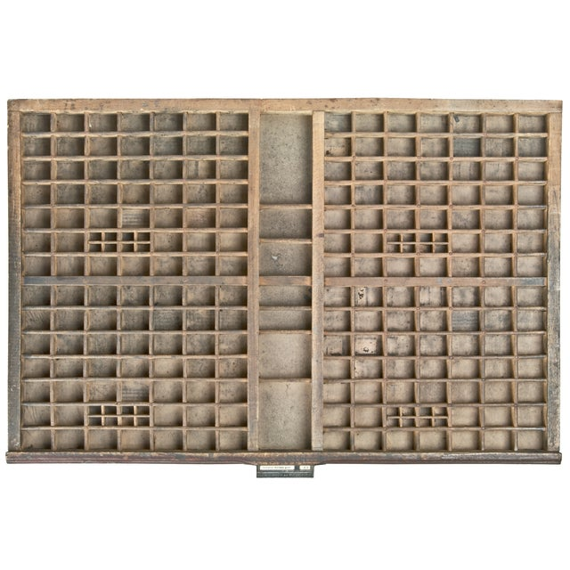 Vintage French Wood Printer's Type Tray - Image 2 of 5