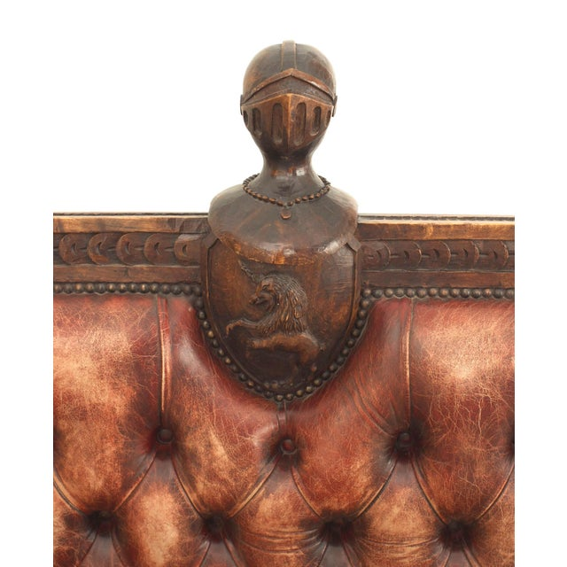 Wood Rustic Continental 19th Century Walnut Carved Loveseat For Sale - Image 7 of 8
