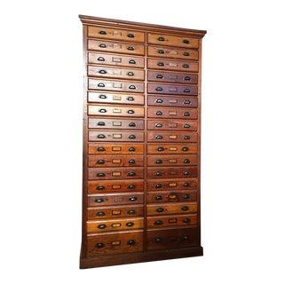 1930s Oak Printers Cabinet For Sale