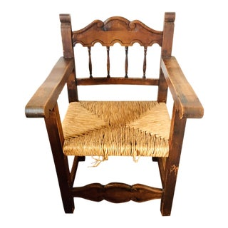 Early 20th Century Antique Mexican Frailero Chair For Sale