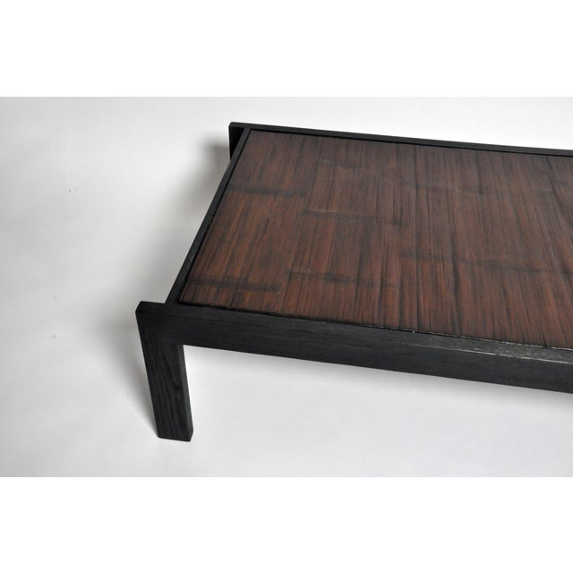 Custom Bamboo Top Coffee Table For Sale - Image 11 of 13