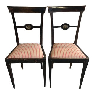 18th Century Italian Decorative Chairs - a Pair For Sale