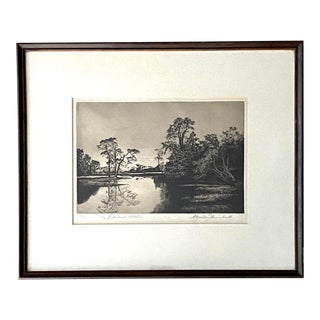 Vintage Signed Etching by A. Watson Turnbull For Sale