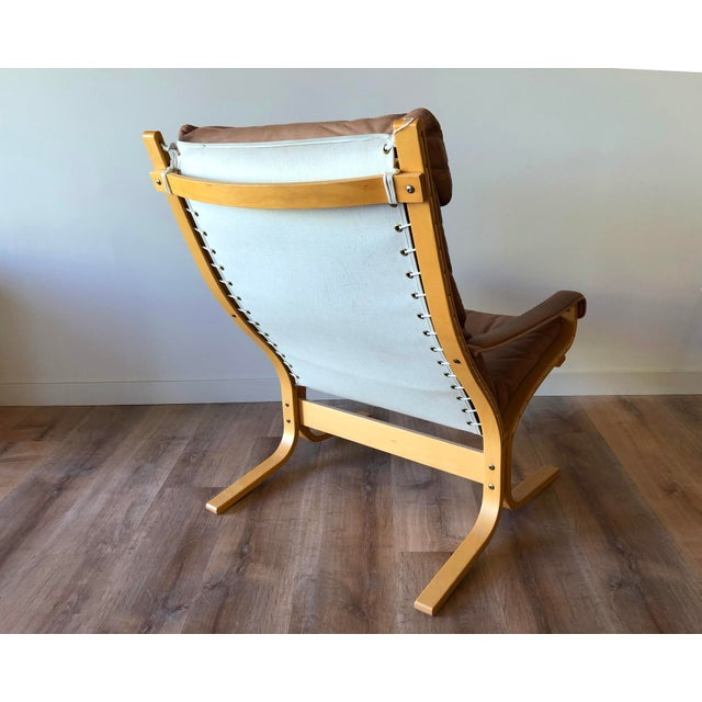 Leather Ingmar Relling for Westnofa Mid-Century Modern Leather Siesta Chair With Ottoman For Sale - Image 7 of 13