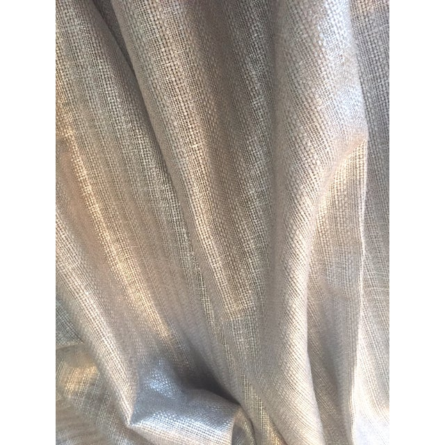Silver Designer's Guild Silver Sassiere Linen - 1.7 Yds For Sale - Image 8 of 9