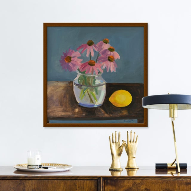 Giclée on textured fine art paper with natural frame. Unframed print dimensions: 18.75x18.75. Anne Carrozza Remick resides...