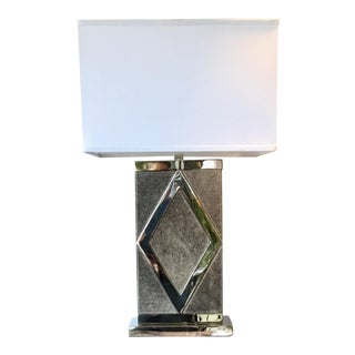 Art Deco Style Gray Currey & Co. Porter Hair on Hide Lamp For Sale