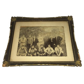 1950s Vintage Framed Sports Team Photograph For Sale