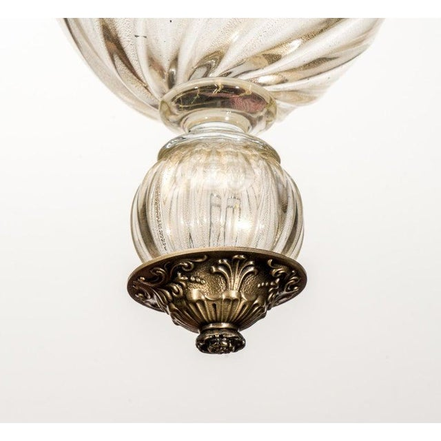 Metal Barovier Murano Glass Chandelier For Sale - Image 7 of 13
