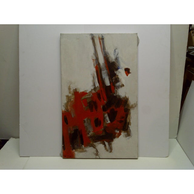 """20th Century Contemporary Original Framed Painting on Canvas, """"Red Explosion"""" by Frederick McDuff For Sale In Pittsburgh - Image 6 of 6"""