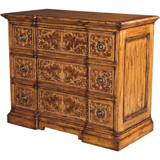 Scarborough Handdistressed Burl House Chest of Drawers For Sale