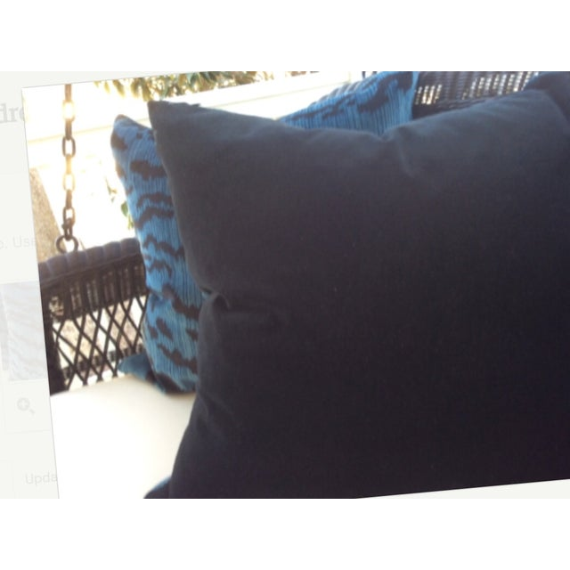 "Scalamandre ""Le Tigre"" Ocean Blue Pillows - a Pair For Sale - Image 4 of 4"