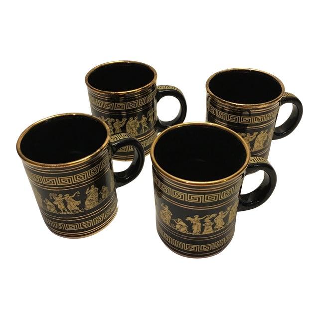 Neofitou 24k Gold Greek Key Mugs - Set of 4 - Image 1 of 9