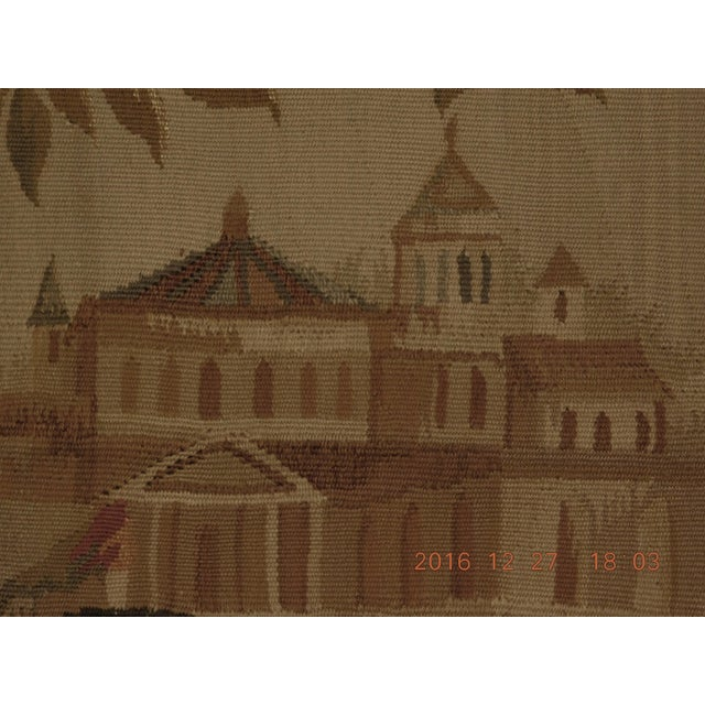 """Asian Chineses Abusson Style Tapestry. 4'x 5'8"""" For Sale - Image 3 of 10"""