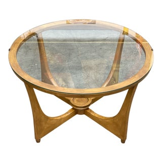 1960s Mid Century Modern Walnut and Glass Coffee Table . For Sale