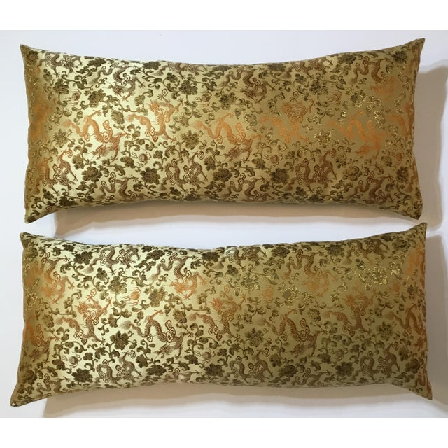 Chinese Silk Pillows - A Pair - Image 3 of 12