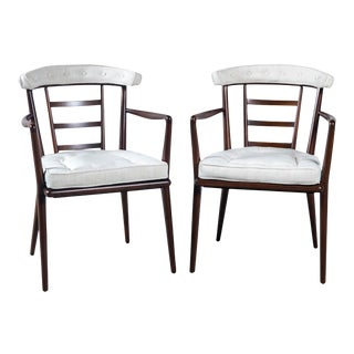 Bert England Solid Walnut Arm Chairs - a Pair For Sale