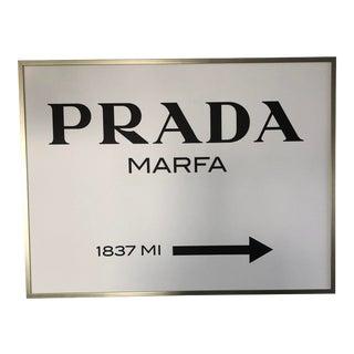 Custom Framed Prada Marfa Painting