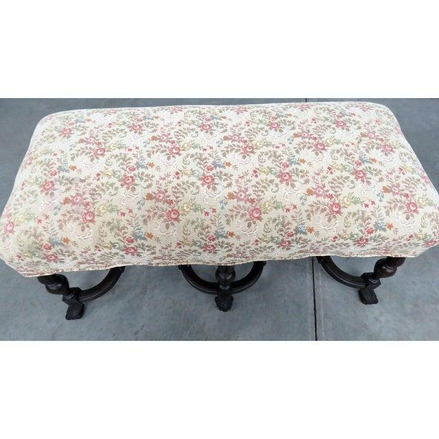 Regency Regency Style Tapestry Bench For Sale - Image 3 of 8