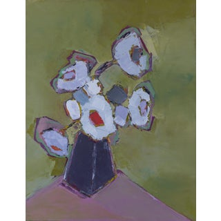 "Bill Tansey ""Steel Vase"" Abstarct Oil Painting Oil on Canvas For Sale"