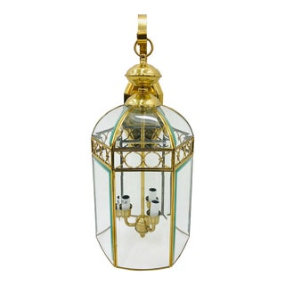 Brass Circle Light Fixture For Sale